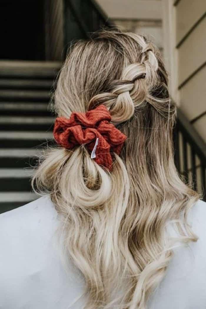 scrunchie hairstyles trend 1