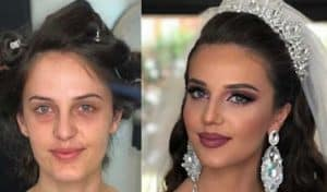 A Makeup Artist Shares Before And After Beauty Transformations That Show How Brides Glam Up For Their Big Day