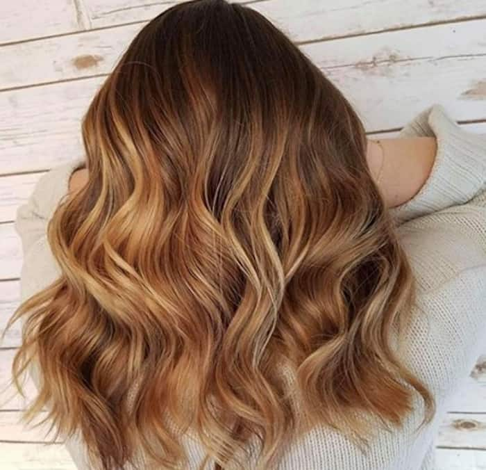 golden brunette hair color trend kylie jenner 6