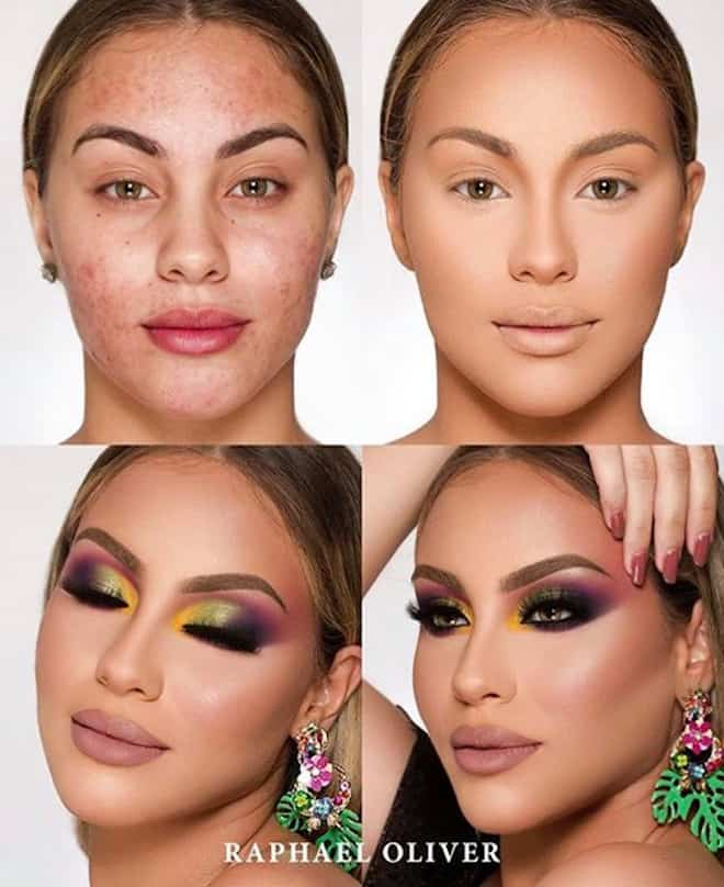 this makeup artist shows the power of makeup through 4 step beauty transformations