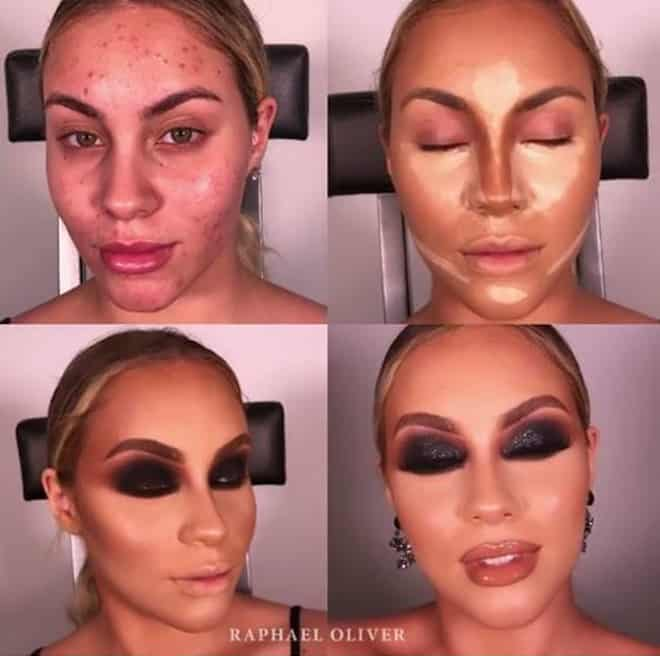 this makeup artist shows the power of makeup through 4 step beauty transformations 4