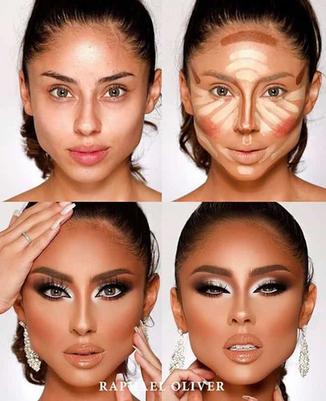 this makeup artist shows the power of makeup through 4 step beauty transformations 5
