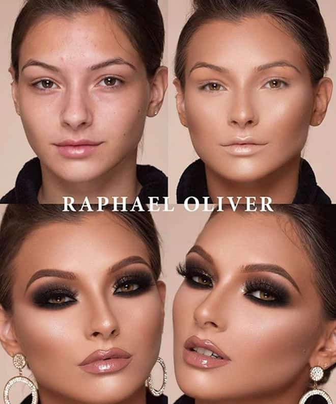 this makeup artist shows the power of makeup through 4 step beauty transformations 9