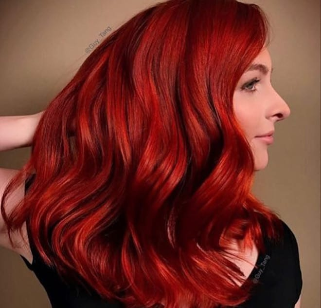 which to try hair color based on your zodiac - aries red