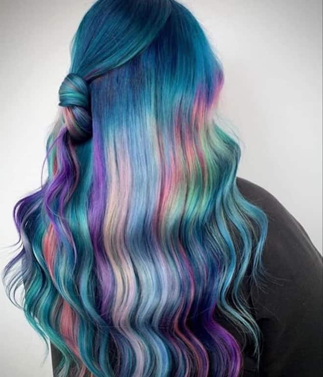 which to try hair color based on your zodiac – pisces mermaid hair