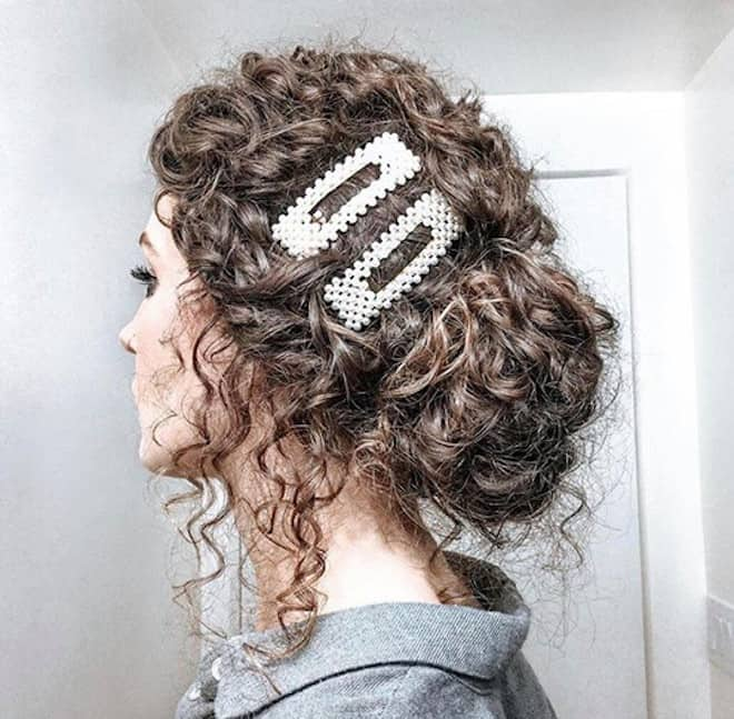 chic & easy curly updos 8