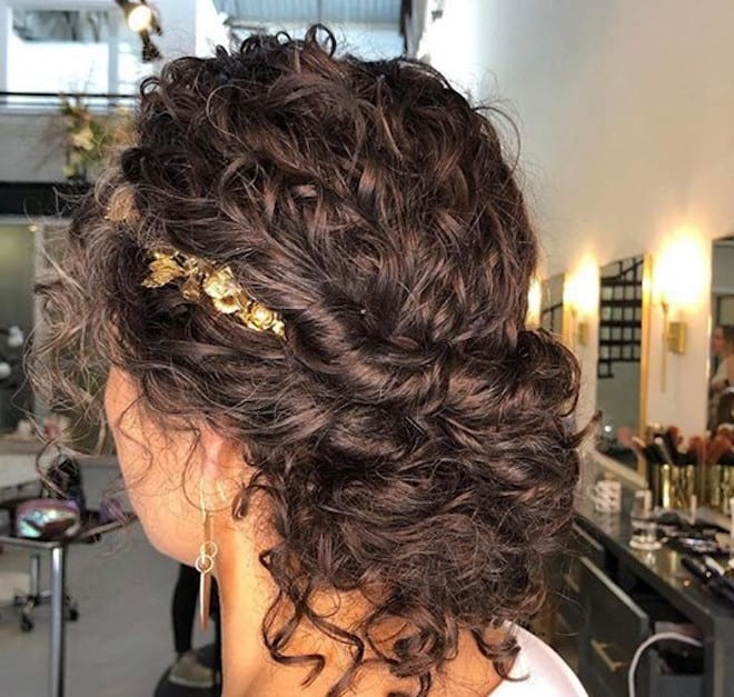 chic & easy curly updos 9