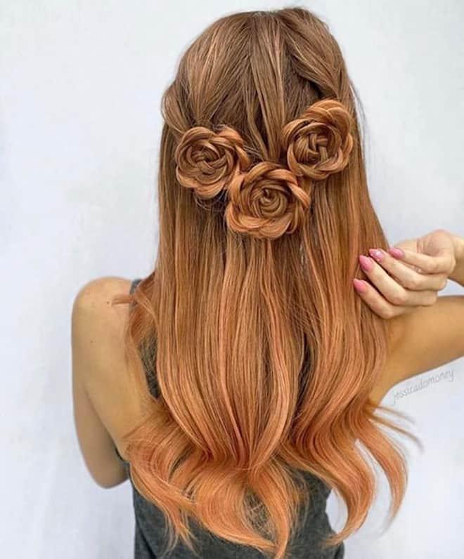 feminine braids ideas 9