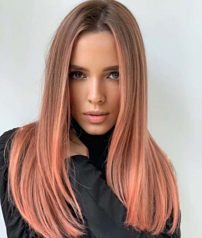 living coral hair color ideas for summer 1