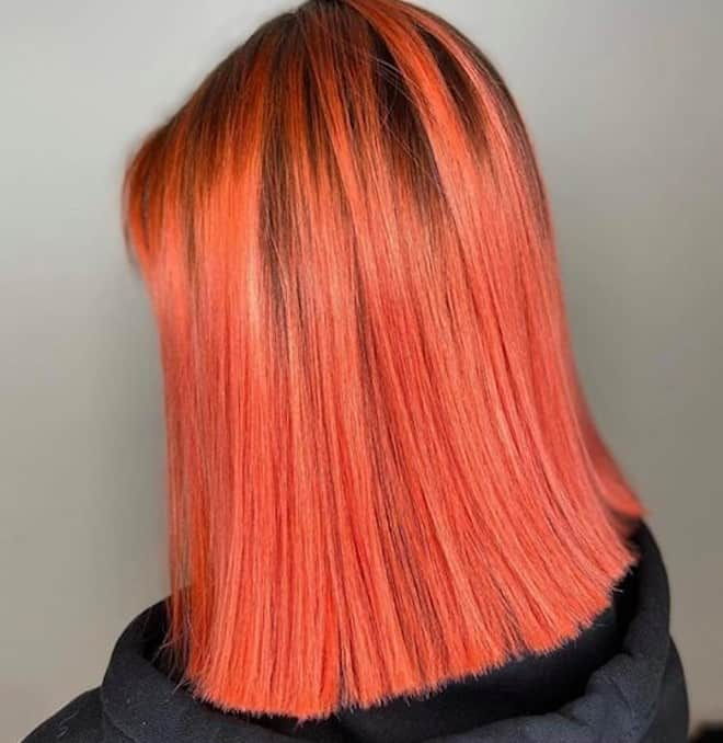 living coral hair color ideas for summer 3