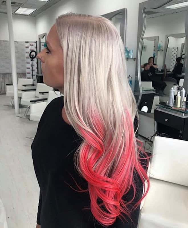 living coral hair color ideas for summer 9