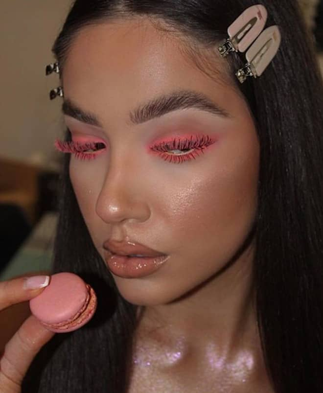 living coral makeup looks 2