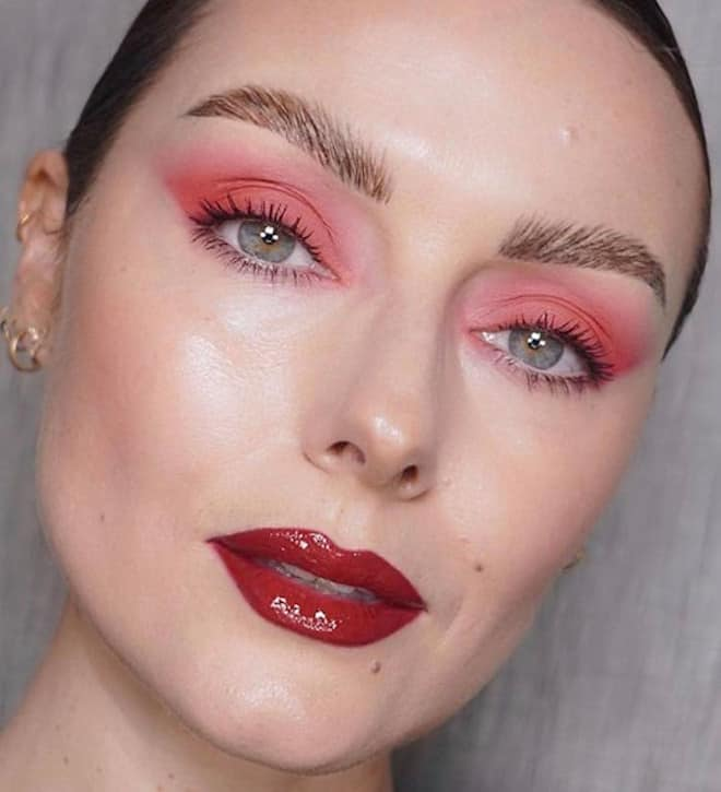 living coral makeup looks 6