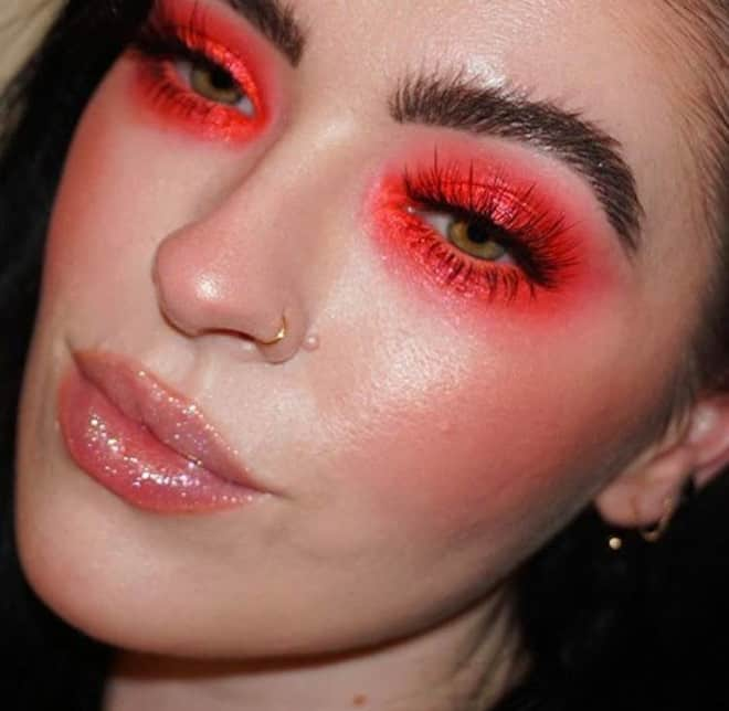 living coral makeup looks 7