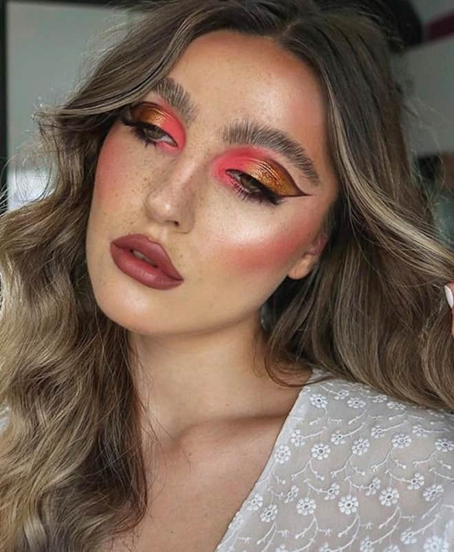living coral makeup looks 8