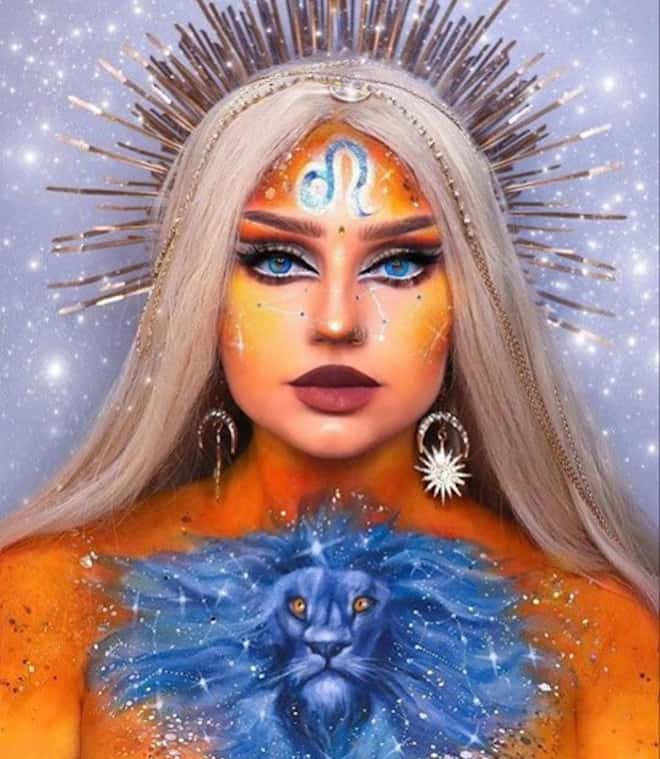 zodiac makeup looks – leo