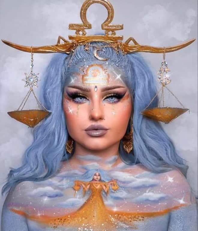 zodiac makeup looks – libra