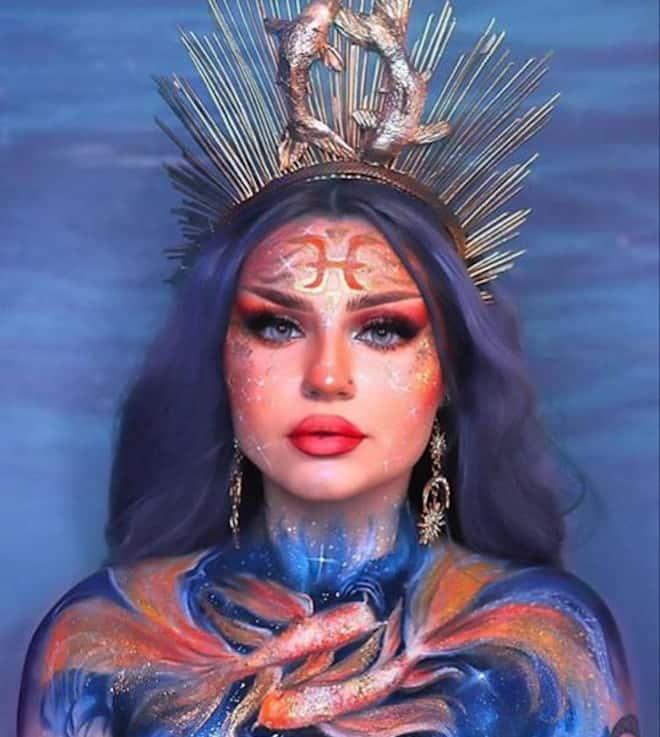 zodiac makeup looks – pisces