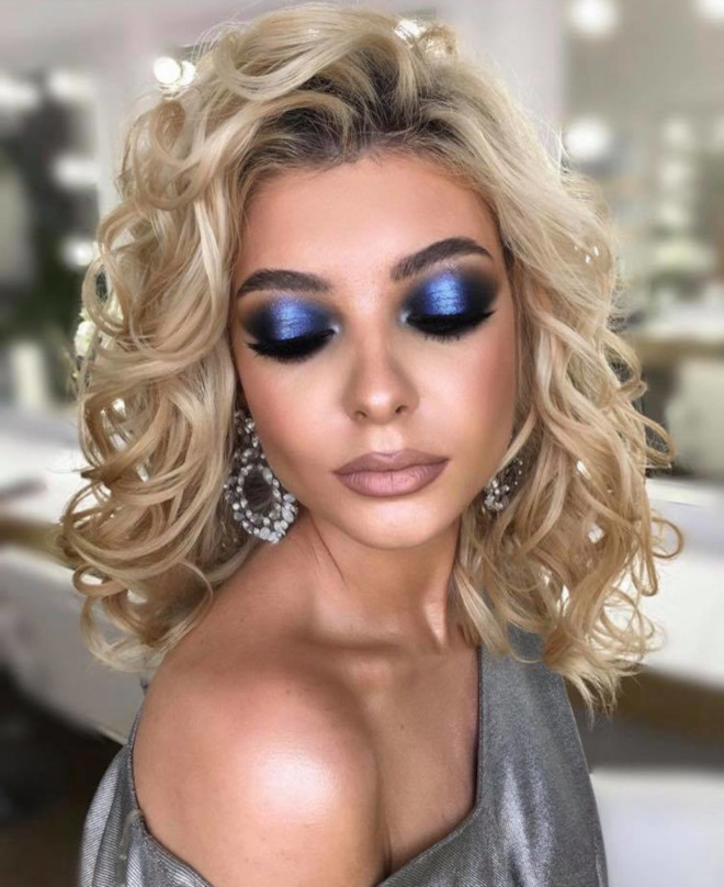 summer blues - sexy blue makeup is trending