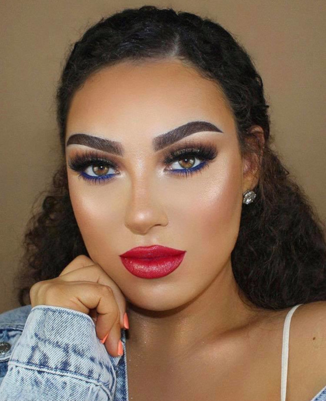 4th of july makeup looks 3