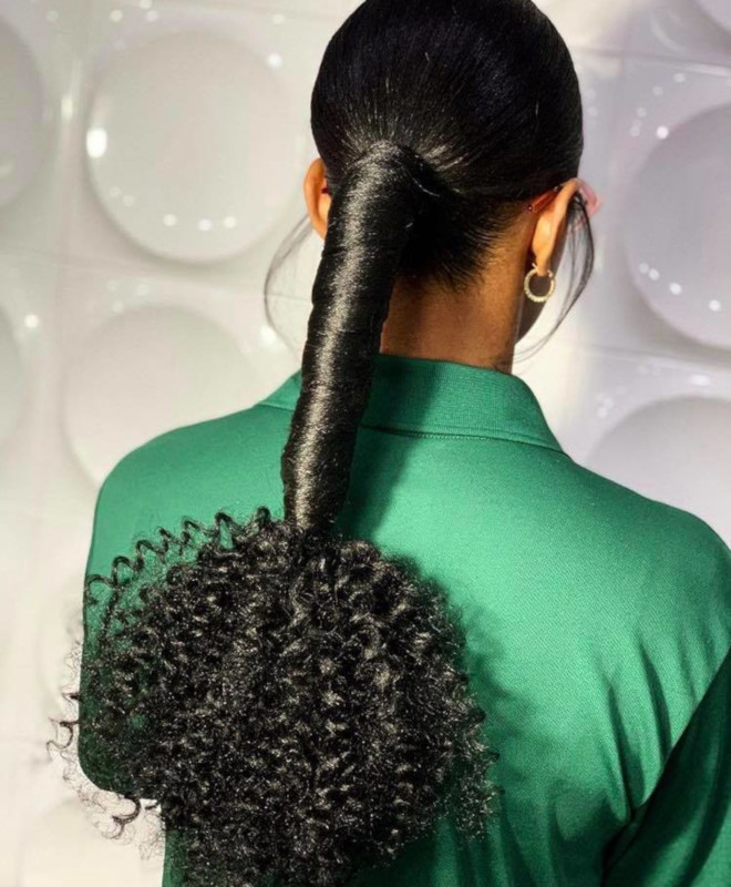 curly ponytails for sweat-free summer days