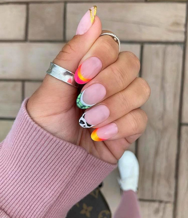 modern french manicure nails to try this summer 2