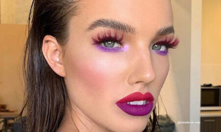 Colored Lashes Makeup Trend
