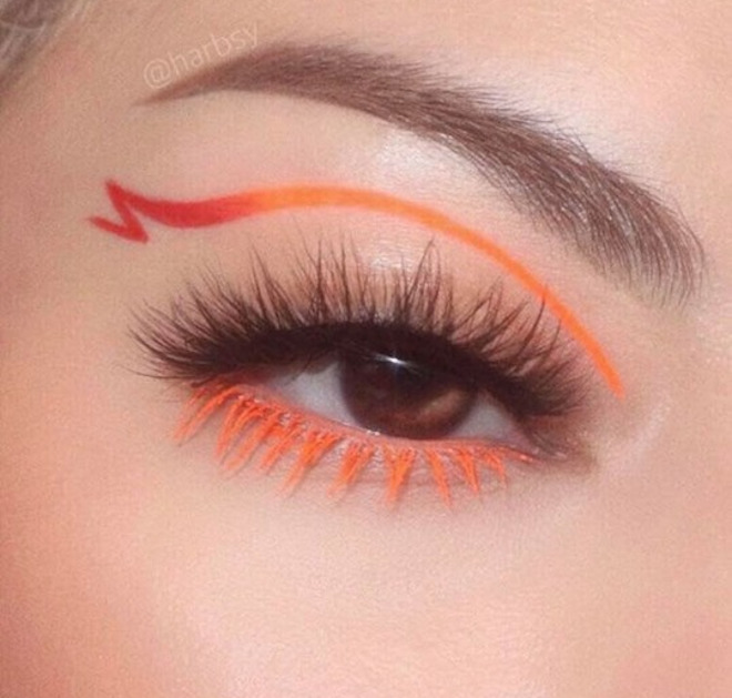 colored lashes makeup trend 7