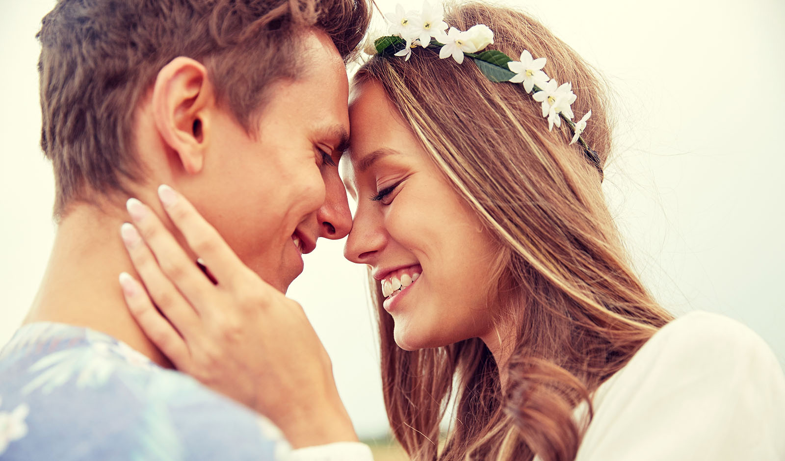 makeup-and-hair-mistakes-to-avoid-for-your-wedding-happy-couple-with-heads-touching