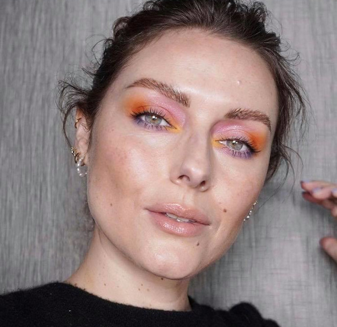 minimally neon makeup trend is the safest way to wear bright hues 10