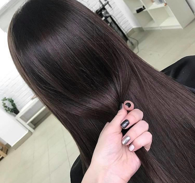 black espresso hair color trend