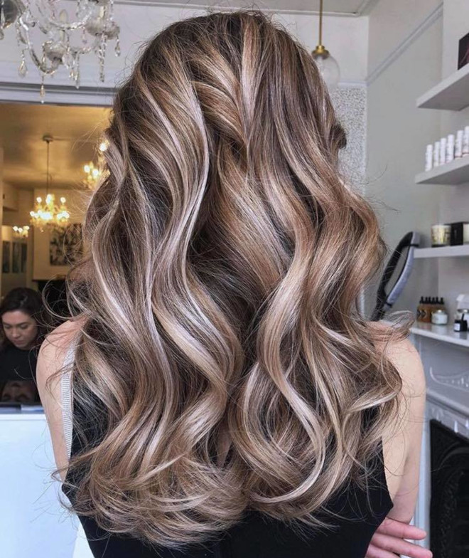 chocolate almond hair color trend 2