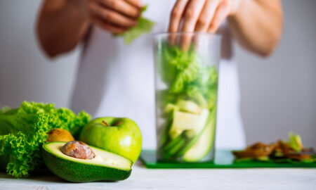 herbs-that-can-fight-depression-vegetables-healthy-food-being-put-into-blender