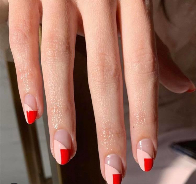 modern french manicure ideas for fall 3