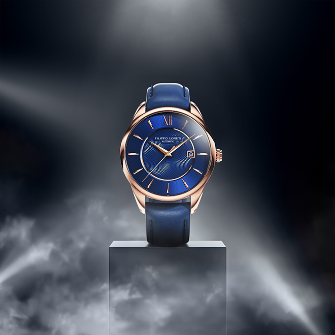 Rome-Rose-Gold-Blue-Automatic-leather