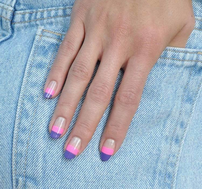 short french manicure ideas for fall 3