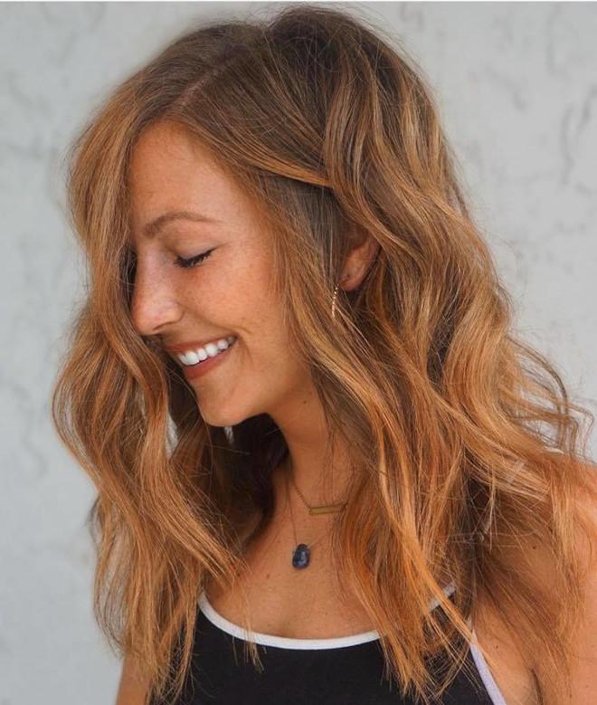 cinnamon balayage hair color trend 4