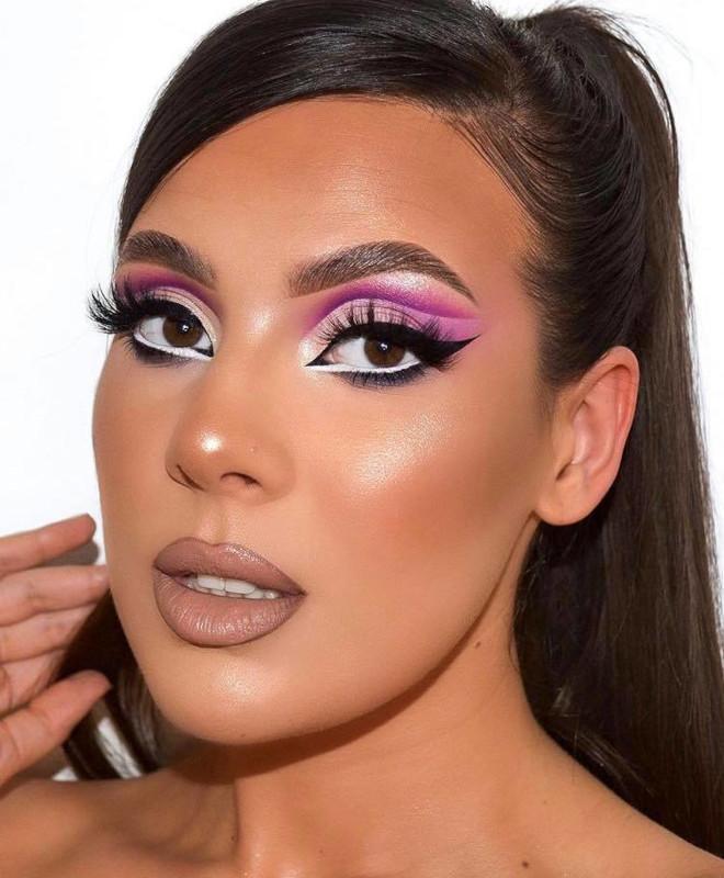 white eyeliner makeup looks for fall 4