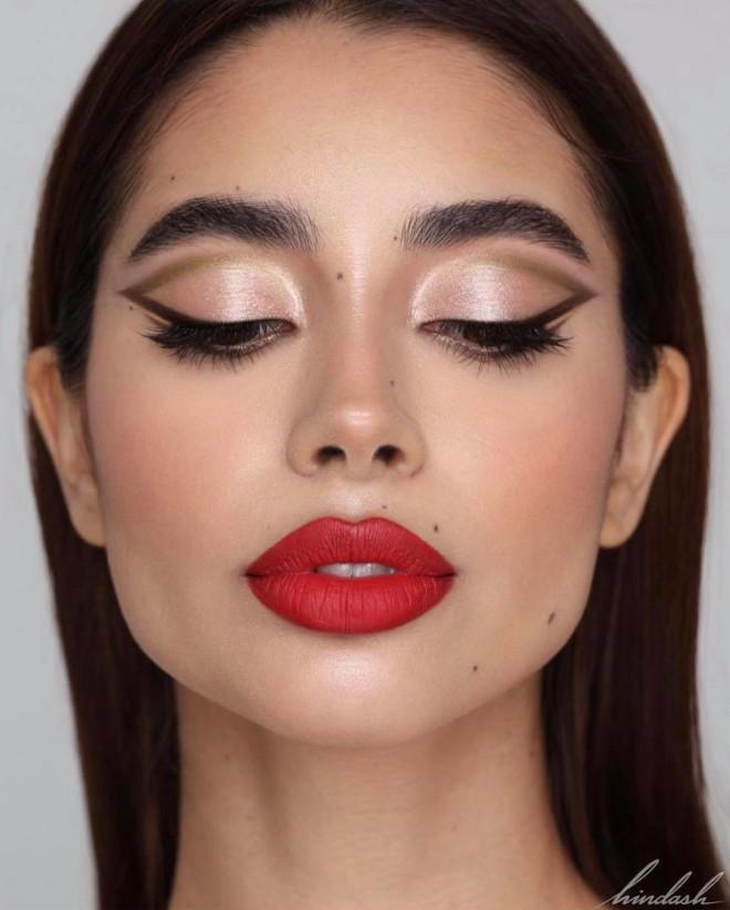 glamorous holiday makeup looks 6