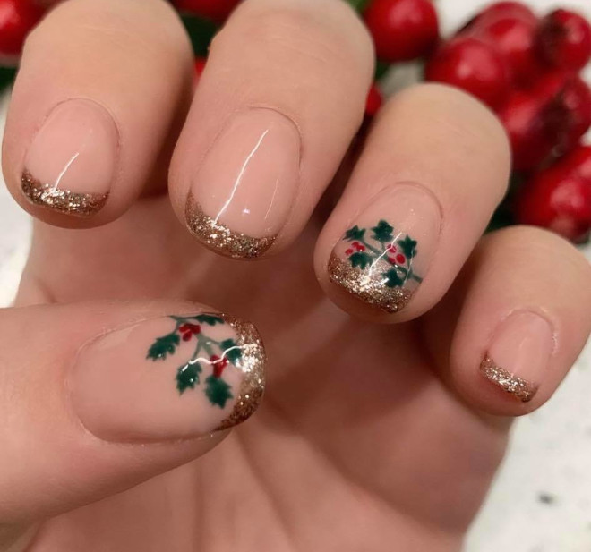 festive french manicures