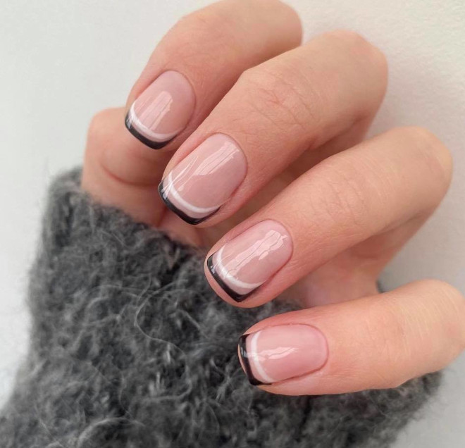 short french manicure ideas to dress your tips 9