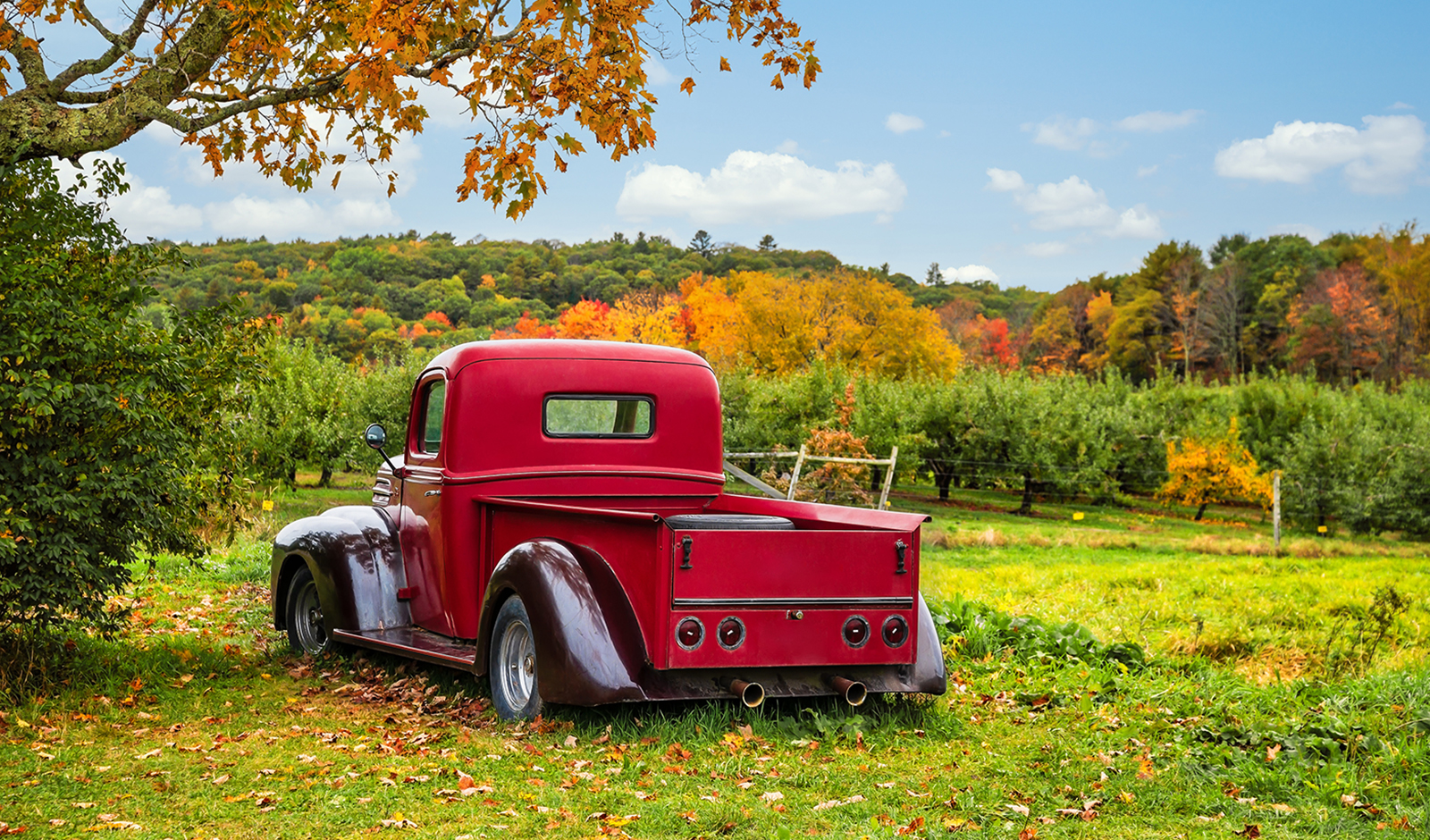 things-to-know-about-painting-a-truck-pretty-red-truck-in-a-green-field