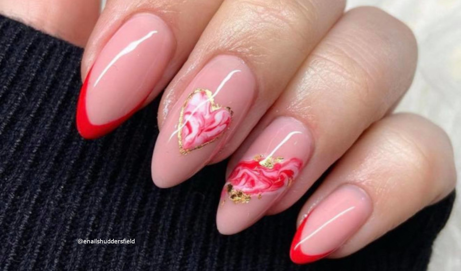 Valentine's Day French Manicure Ideas that Will Give You All the Love Vibes
