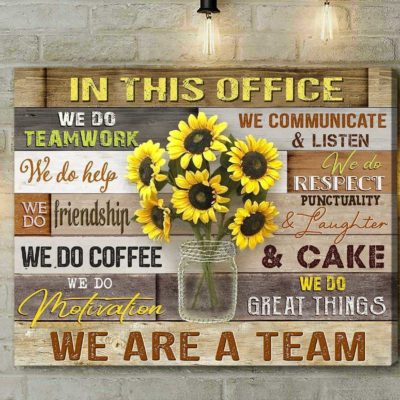 Zalooo Sunflower Canvas Gift Ideas In This Office Wall Art Decor