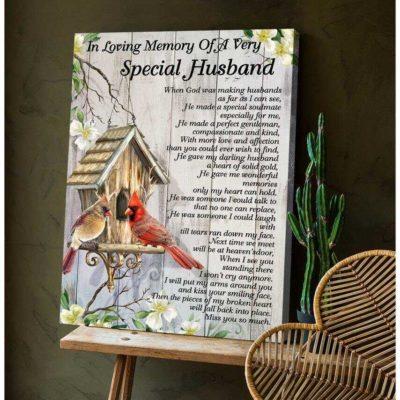 Zalooo Cardinal Canvas Special Husband Wall Art Decor - https://zalooo.com