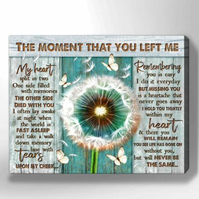 Zalooo Sympathy Canvas Gifts The Moment That You Left Me Butterfly Wall Art Decor