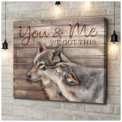 Zalooo Anniversary Gifts You And Me Wall Art Wolf Decor