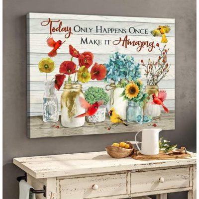 Zalooo Housewarming Gifts Make It Amazing Wall Art Cardinal Decor