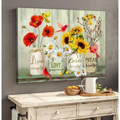Zalooo Housewarming Gifts Speak Kindly Wall Art Cardinal Decor