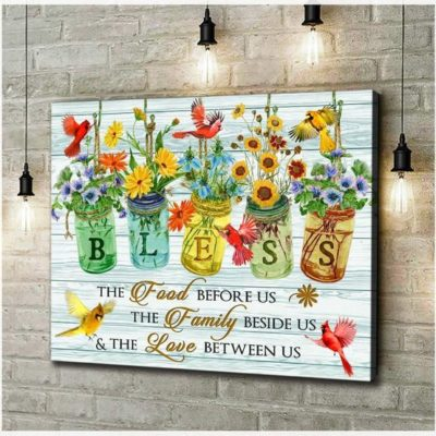 Zalooo Housewarming Gifts Bless Wall Art Cardinal Decor
